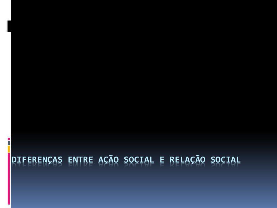 Diferenças entre ação social e relação social