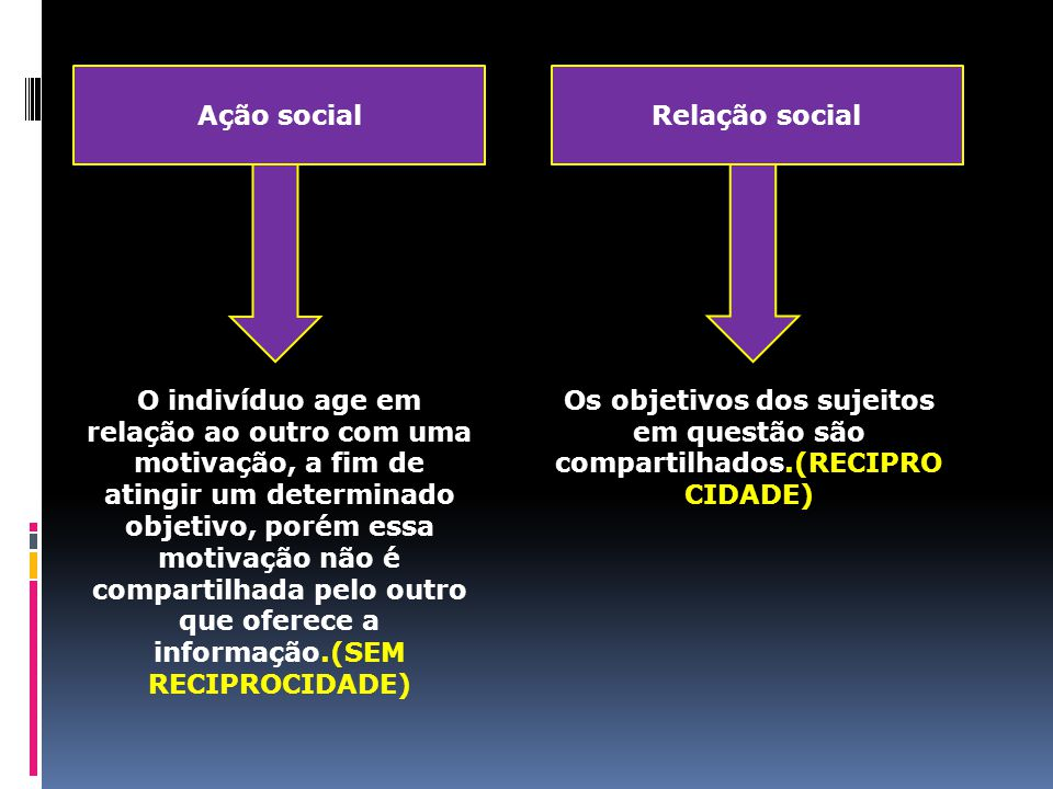 Ação social Relação social.