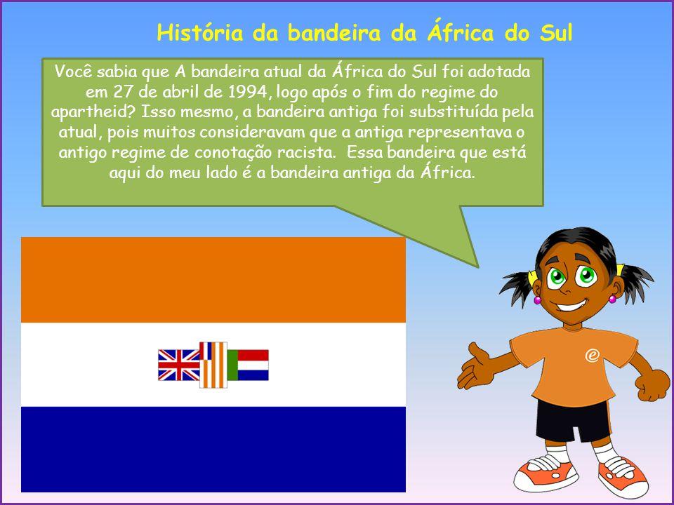 História da bandeira da África do Sul