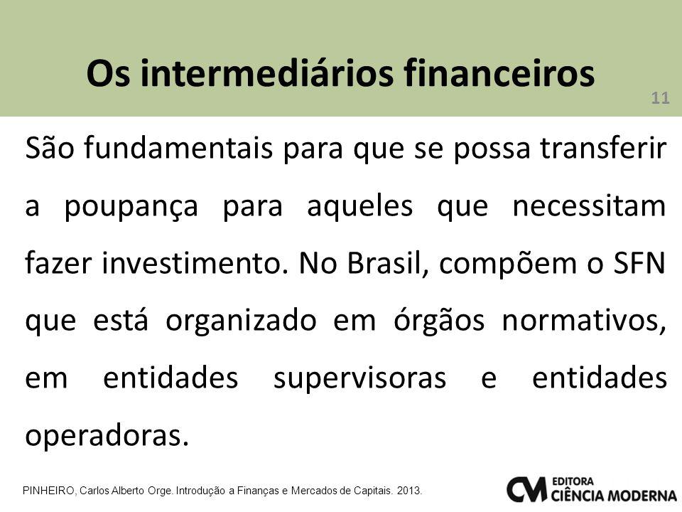 Os intermediários financeiros