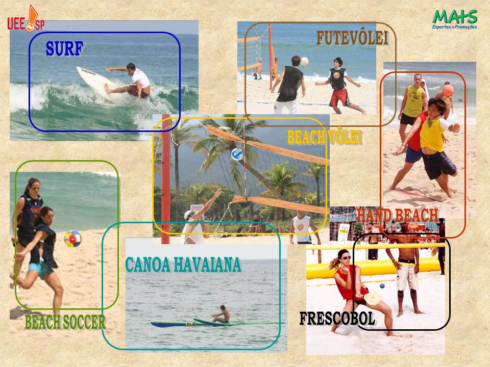 SURF FUTEVÔLEI FRESCOBOL HAND BEACH BEACH VÔLEI CANOA HAVAIANA BEACH SOCCER