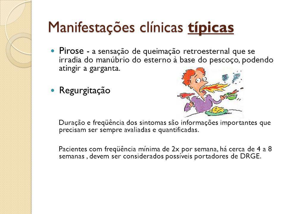 Manifestações clínicas típicas