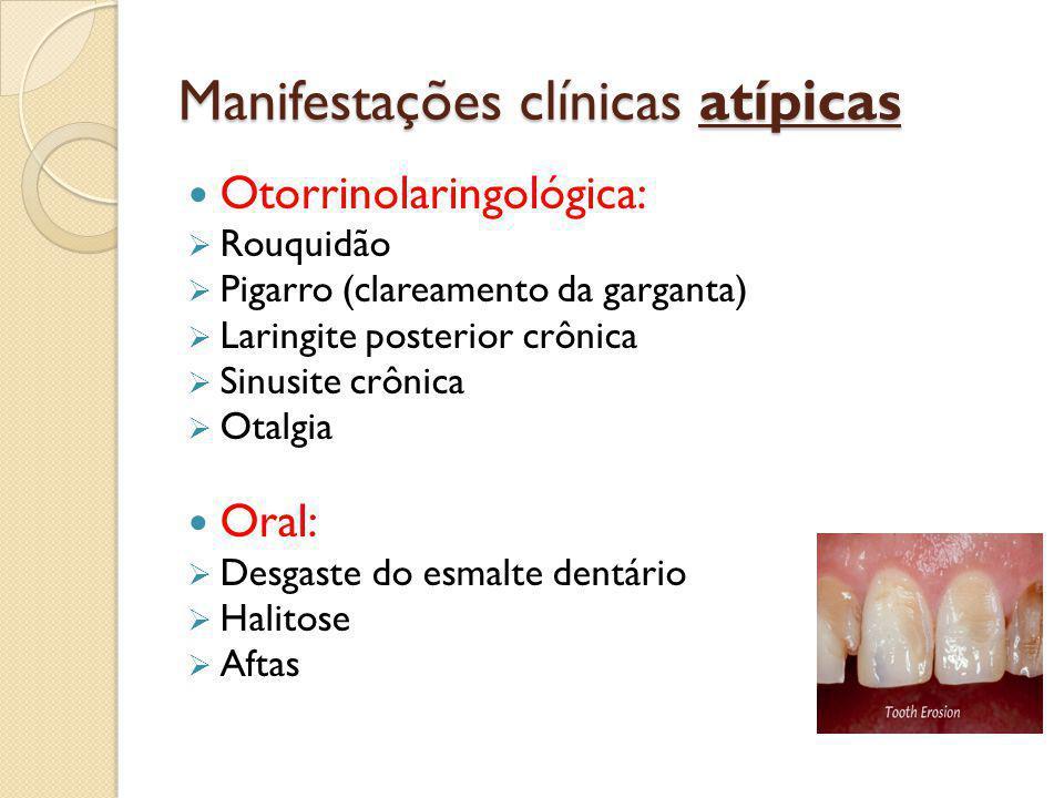 Manifestações clínicas atípicas