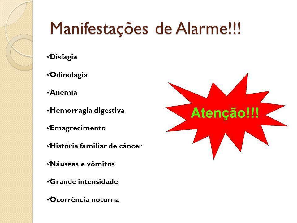 Manifestações de Alarme!!!