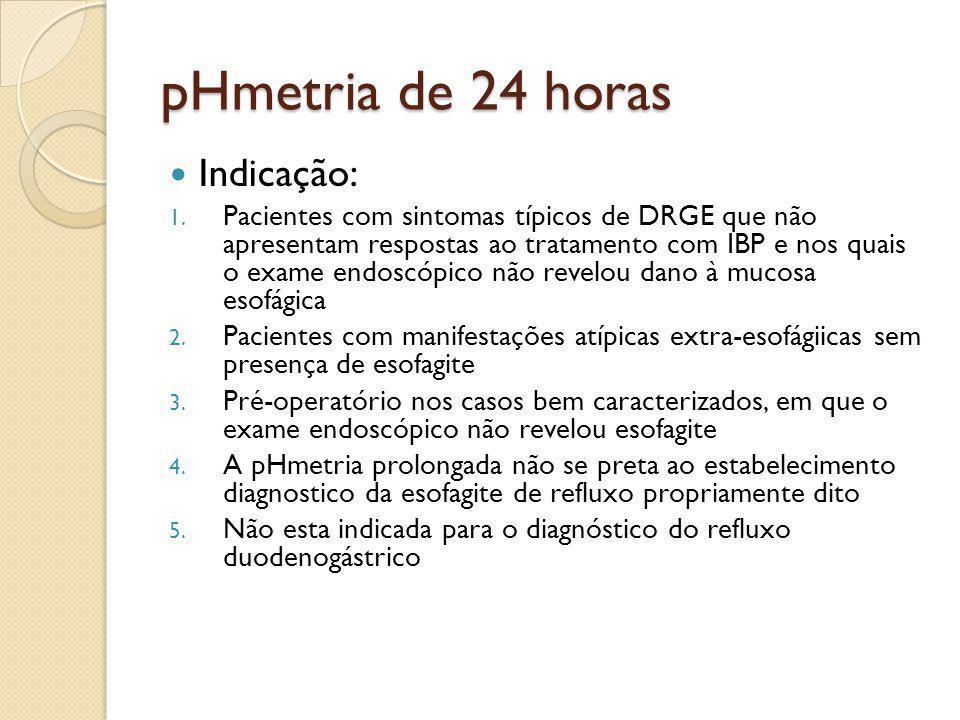 pHmetria de 24 horas Indicação:
