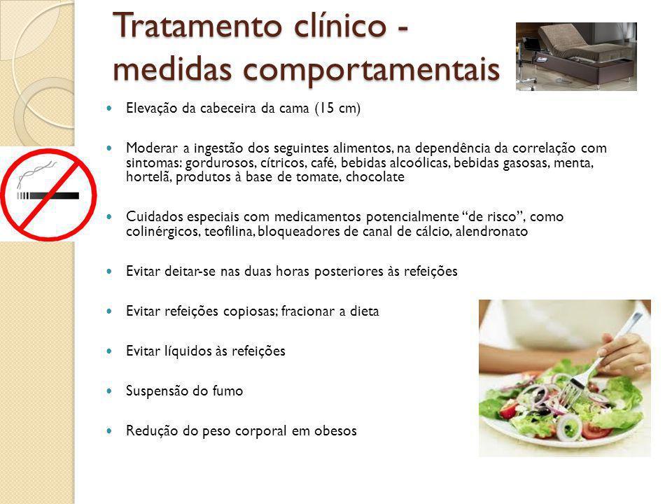 Tratamento clínico - medidas comportamentais