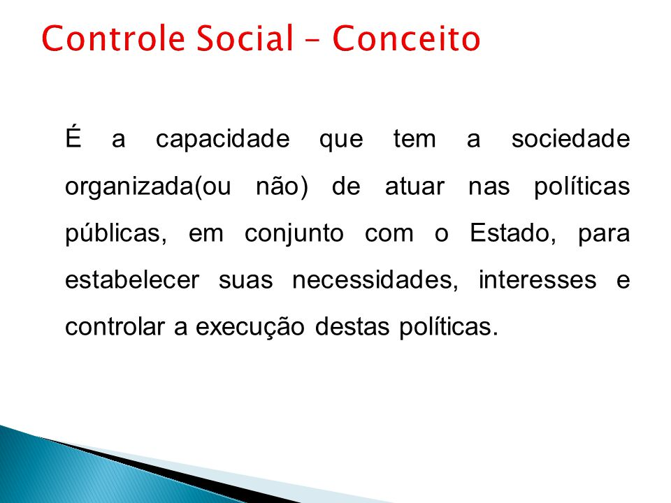 Controle Social – Conceito