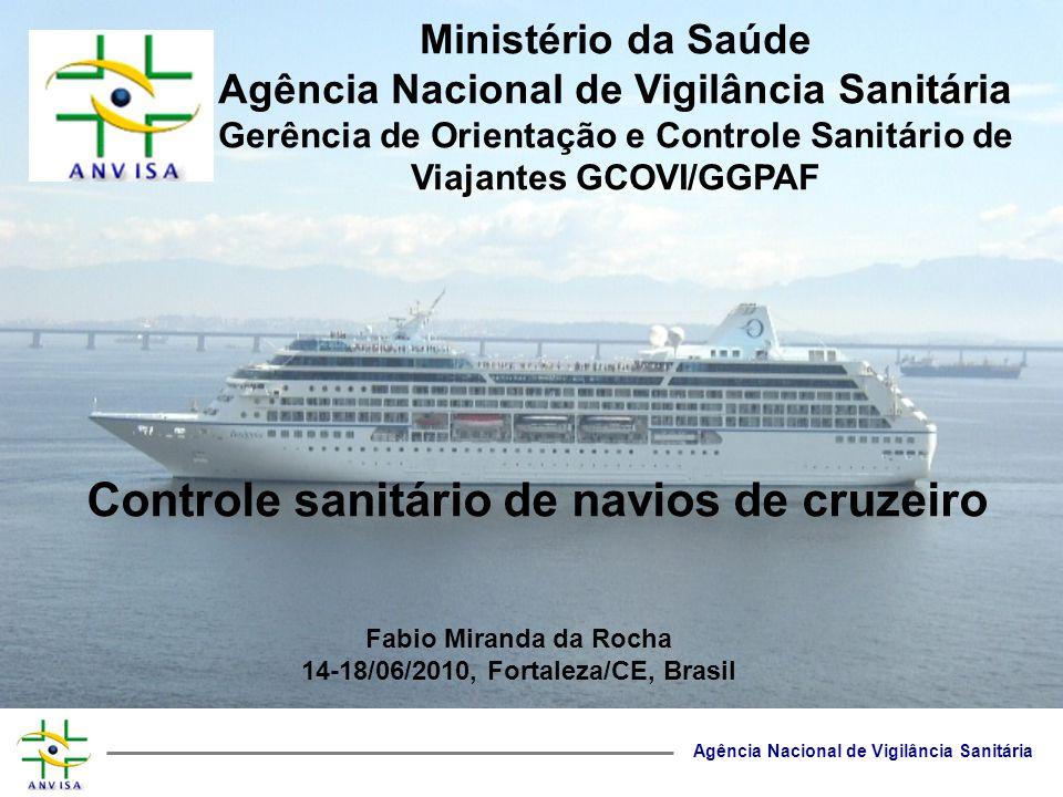 Controle sanitário de navios de cruzeiro