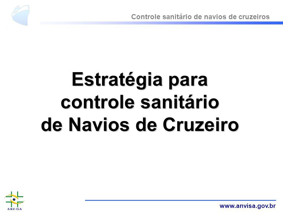 Estratégia para controle sanitário de Navios de Cruzeiro