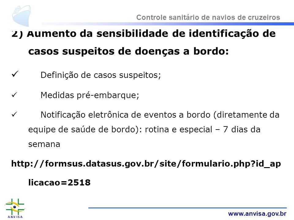 Definição de casos suspeitos;