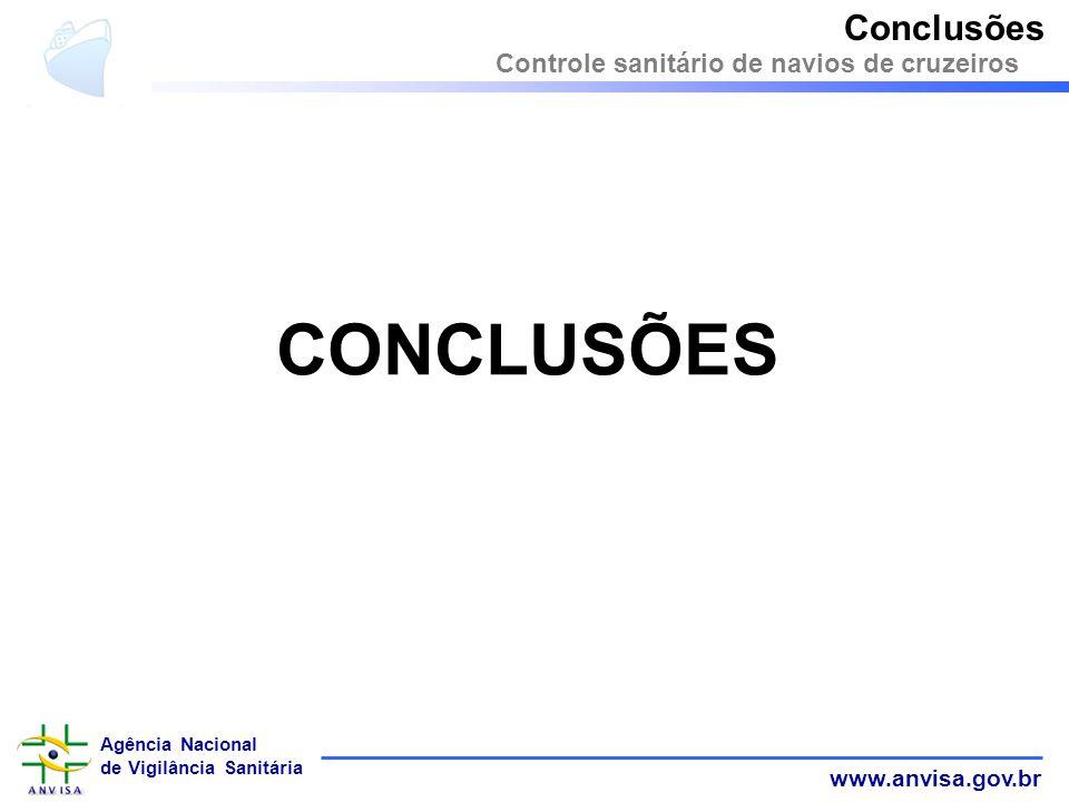Conclusões Controle sanitário de navios de cruzeiros CONCLUSÕES 32 32