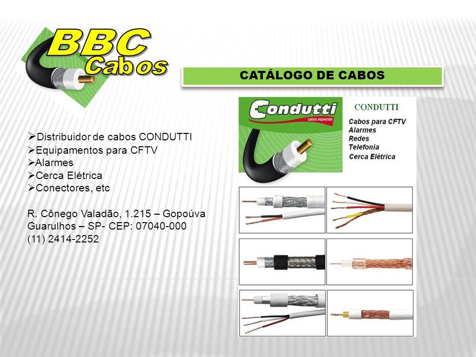 BBC Cabos CATÁLOGO DE CABOS Distribuidor de cabos CONDUTTI