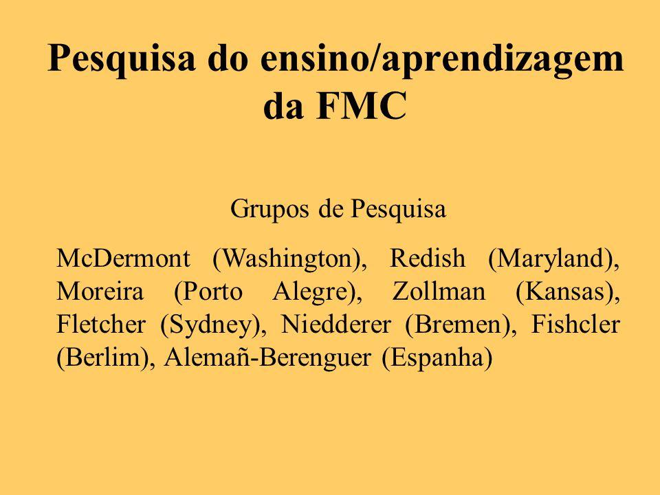 Pesquisa do ensino/aprendizagem da FMC