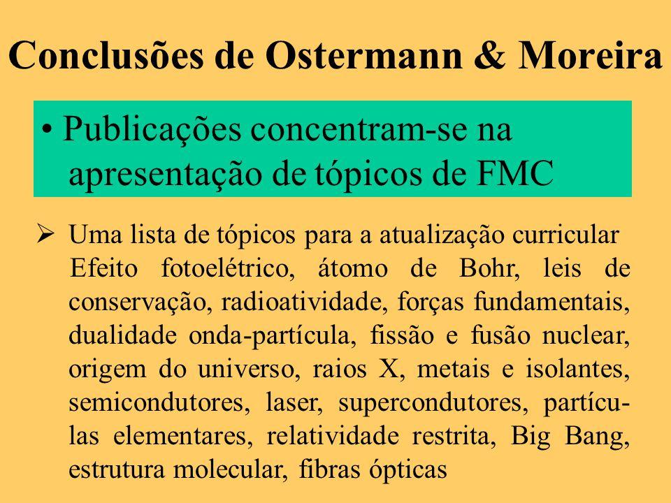 Conclusões de Ostermann & Moreira
