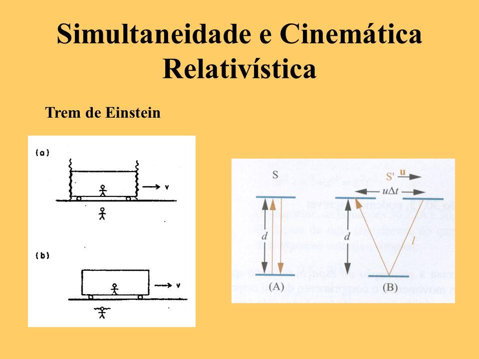 Simultaneidade e Cinemática Relativística