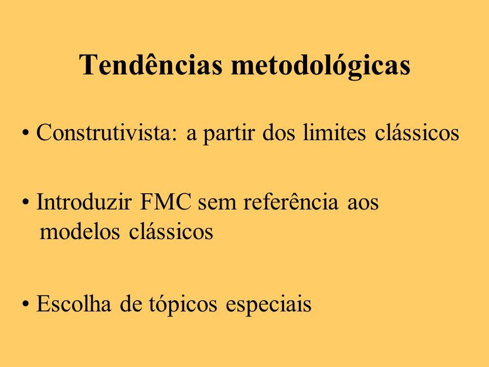 Tendências metodológicas