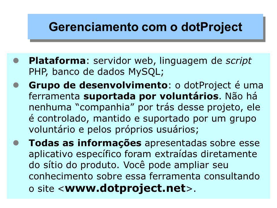 Gerenciamento com o dotProject
