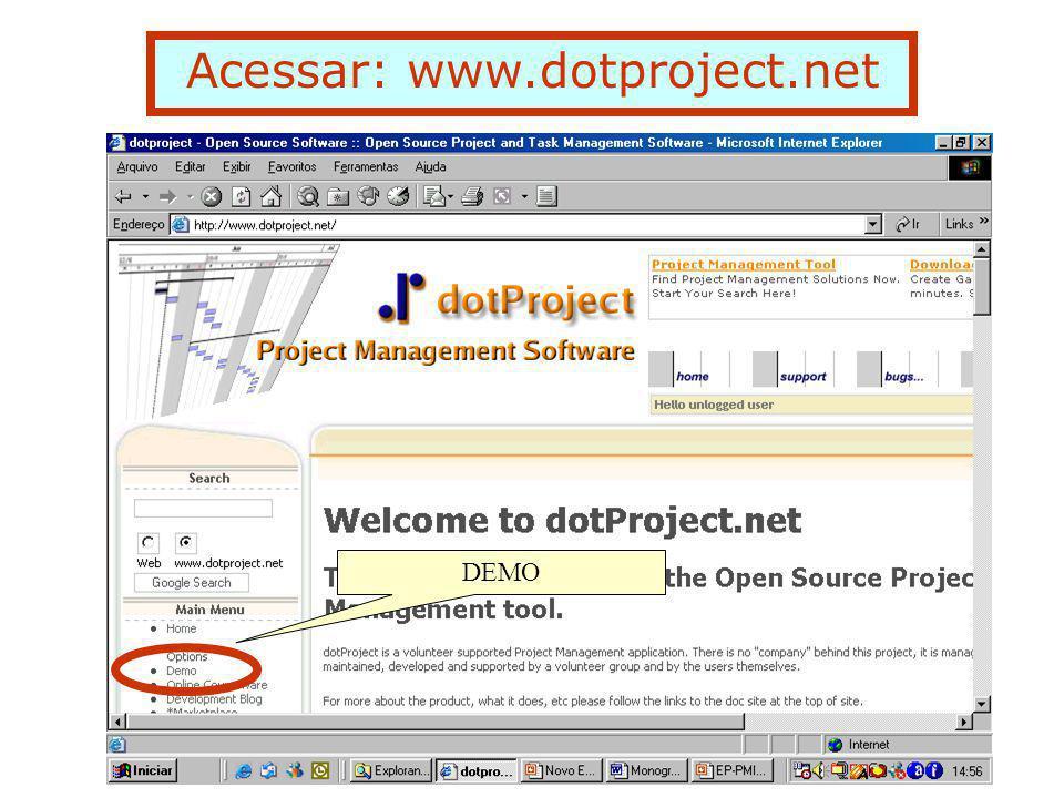 Acessar: www.dotproject.net