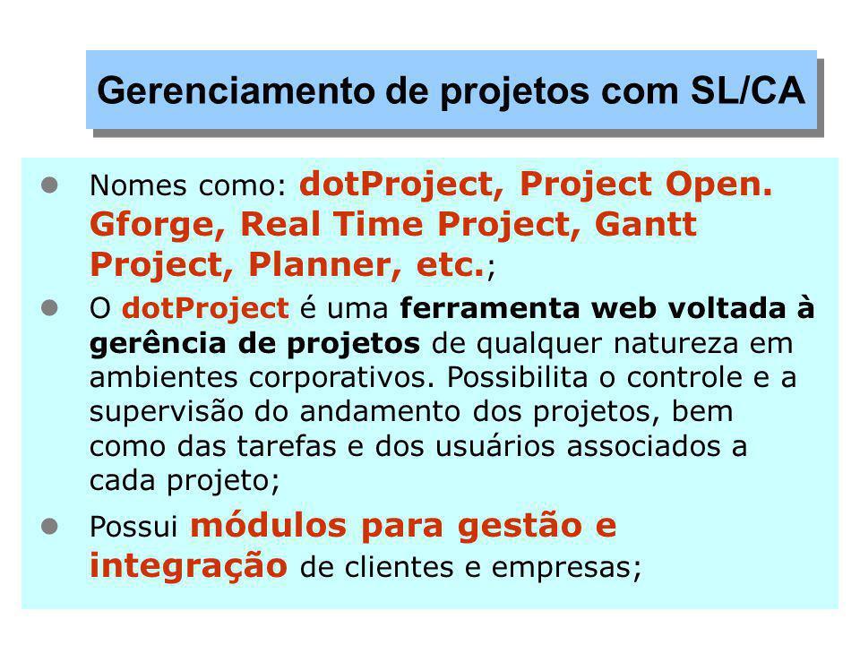 Gerenciamento de projetos com SL/CA
