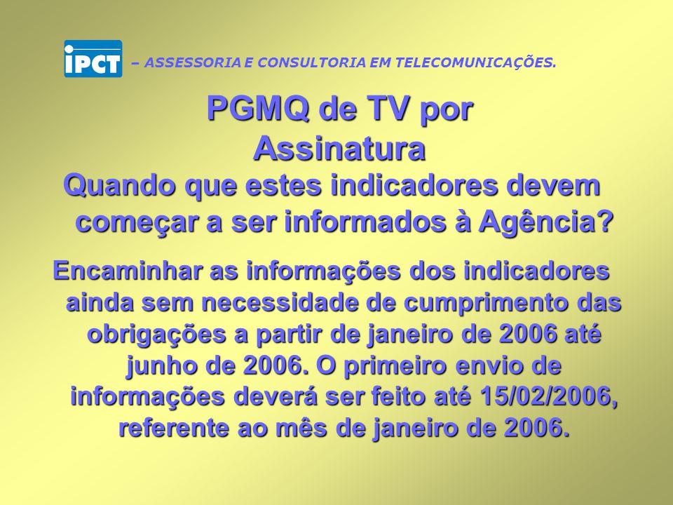 PGMQ de TV por Assinatura