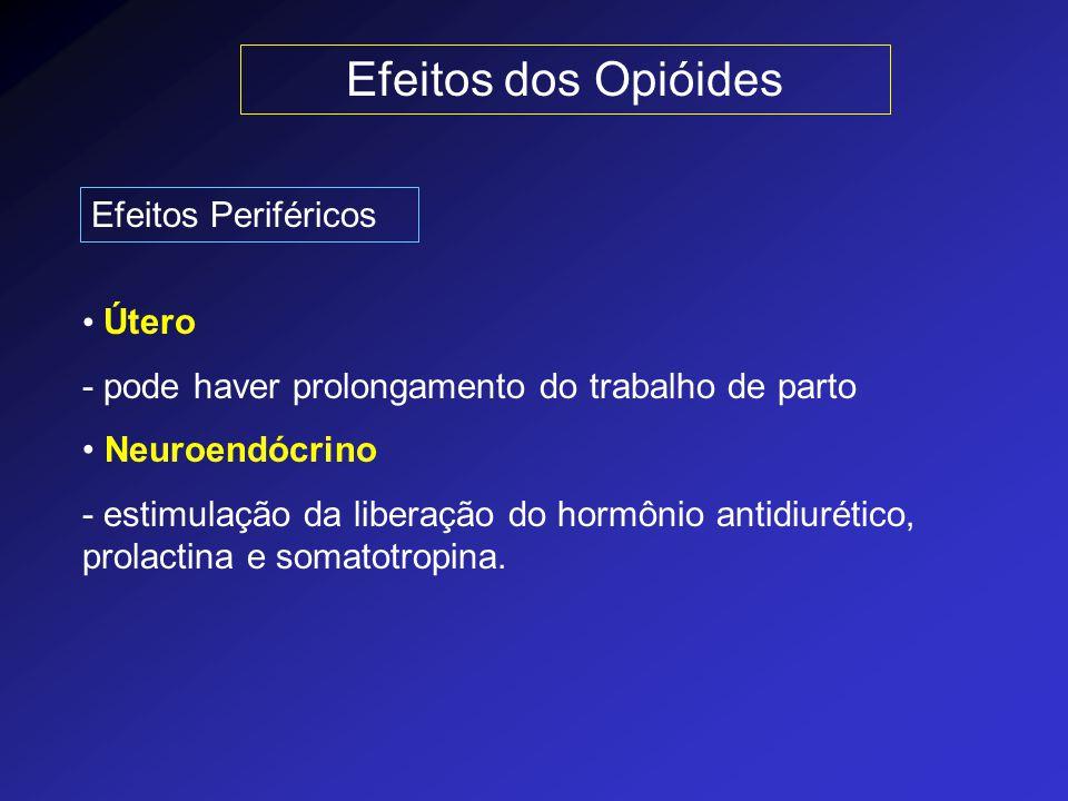 Efeitos dos Opióides Efeitos Periféricos Útero