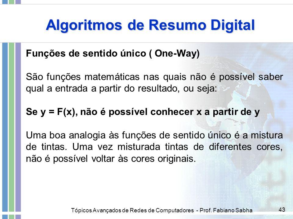 Algoritmos de Resumo Digital