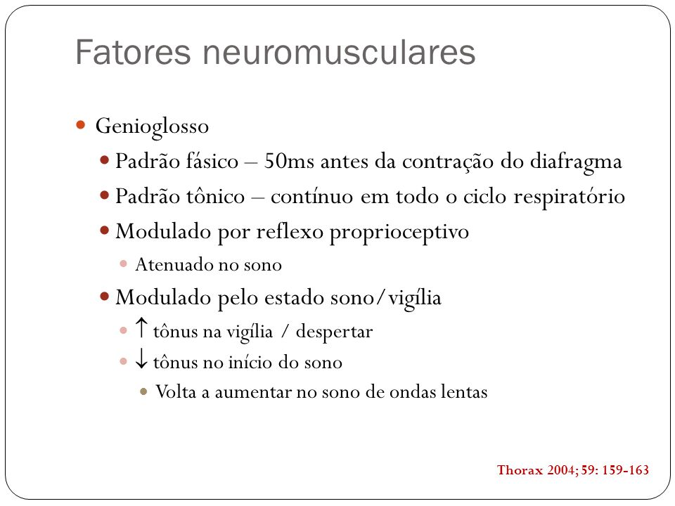 Fatores neuromusculares