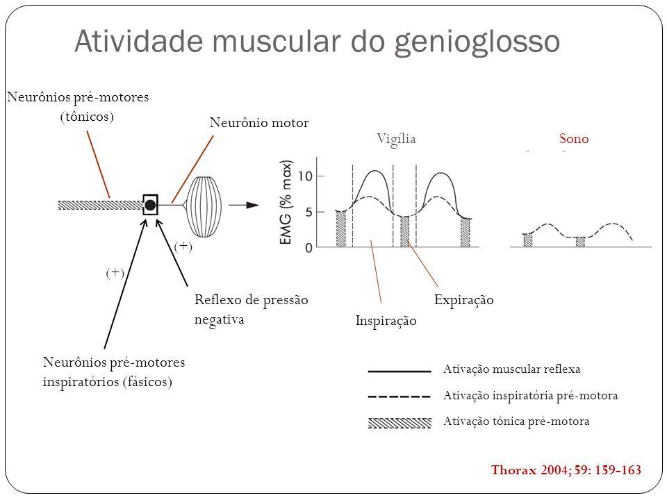 Atividade muscular do genioglosso