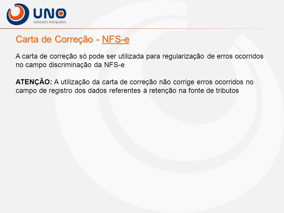 Carta de Correção - NFS-e