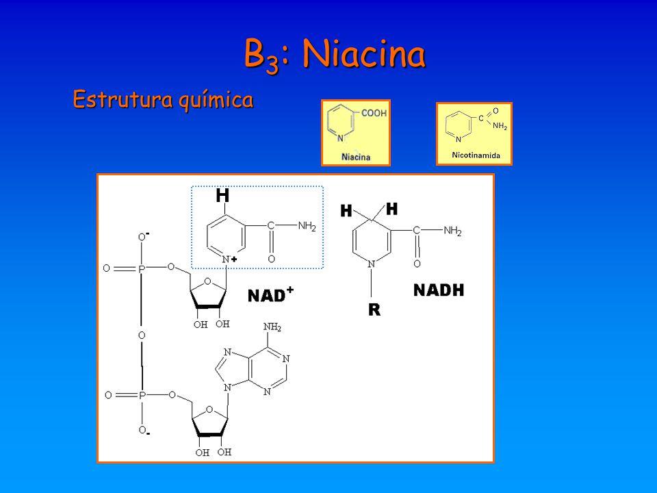 B3: Niacina Estrutura química H