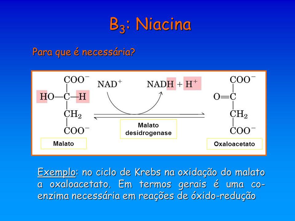 B3: Niacina Para que é necessária