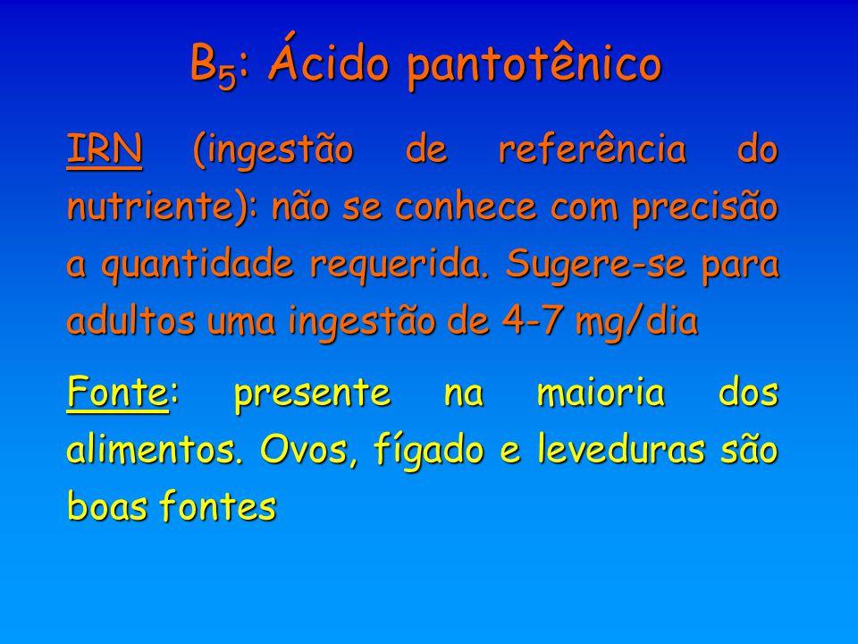 B5: Ácido pantotênico