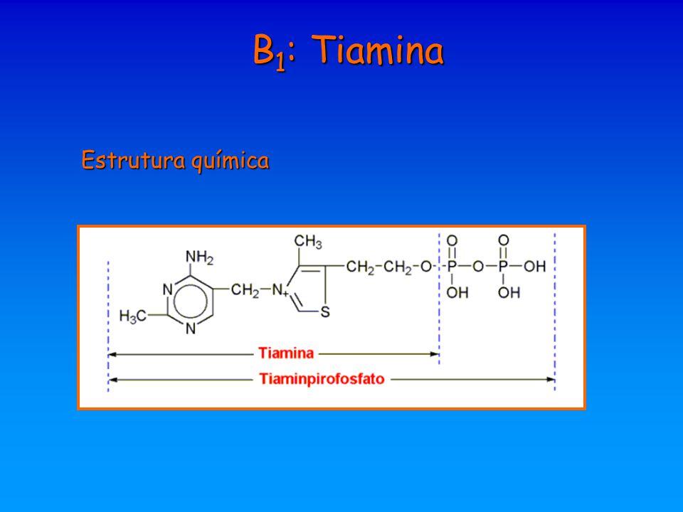 B1: Tiamina Estrutura química