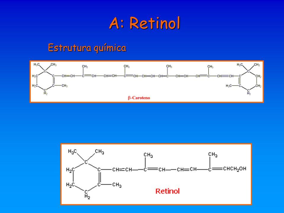 A: Retinol Estrutura química