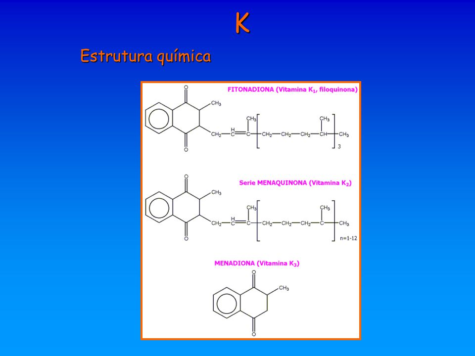 K Estrutura química