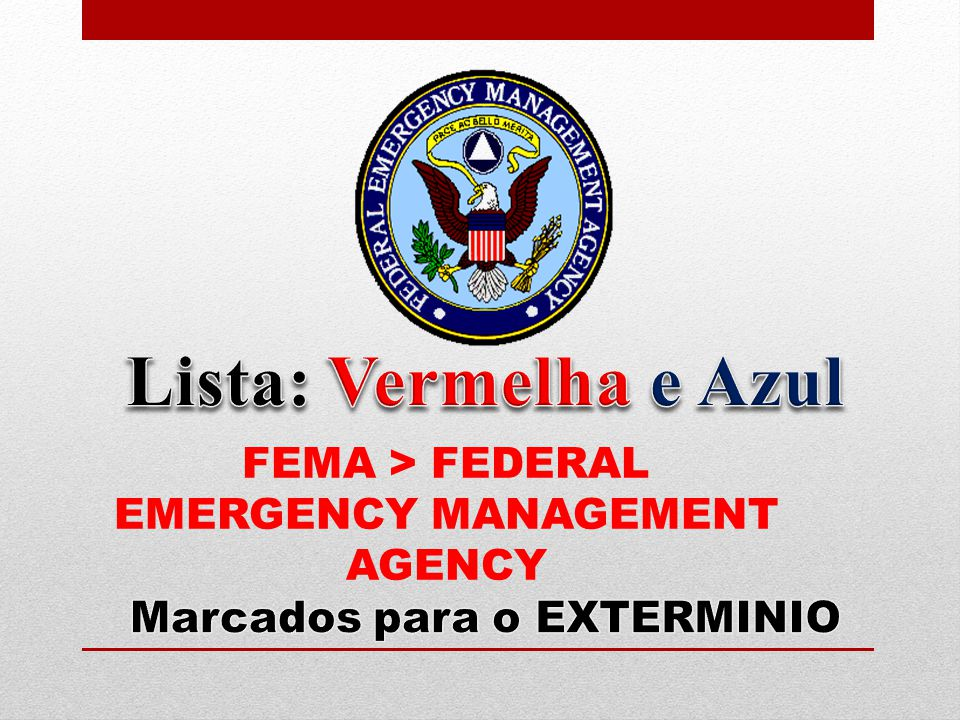 FEMA > FEDERAL EMERGENCY MANAGEMENT AGENCY