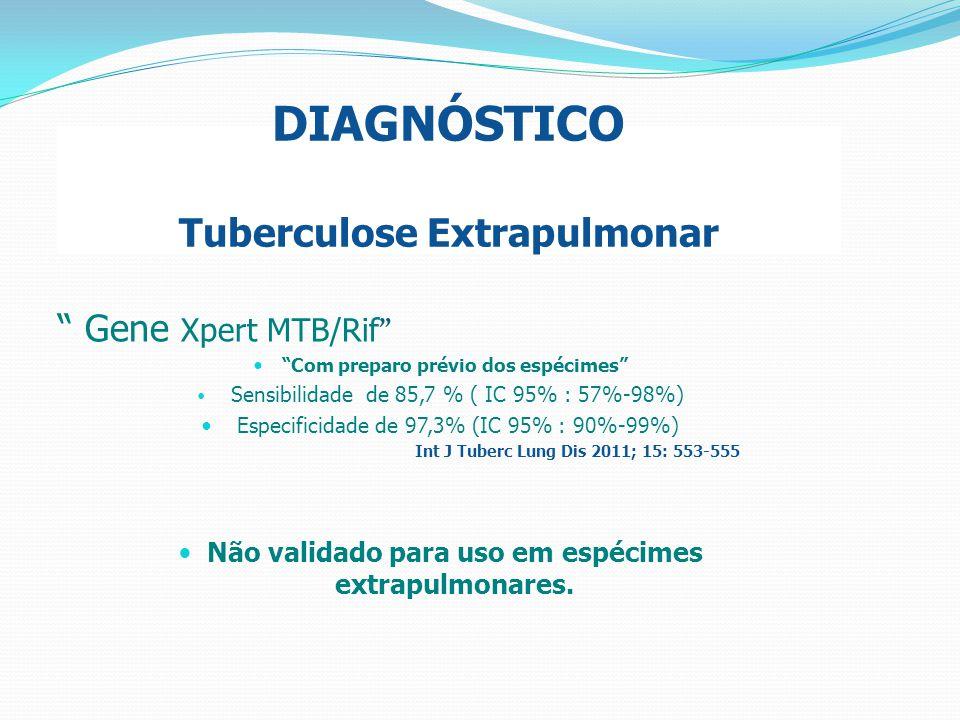 DIAGNÓSTICO Tuberculose Extrapulmonar