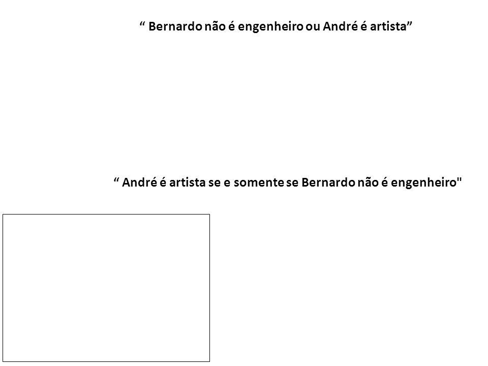 Bernardo não é engenheiro ou André é artista