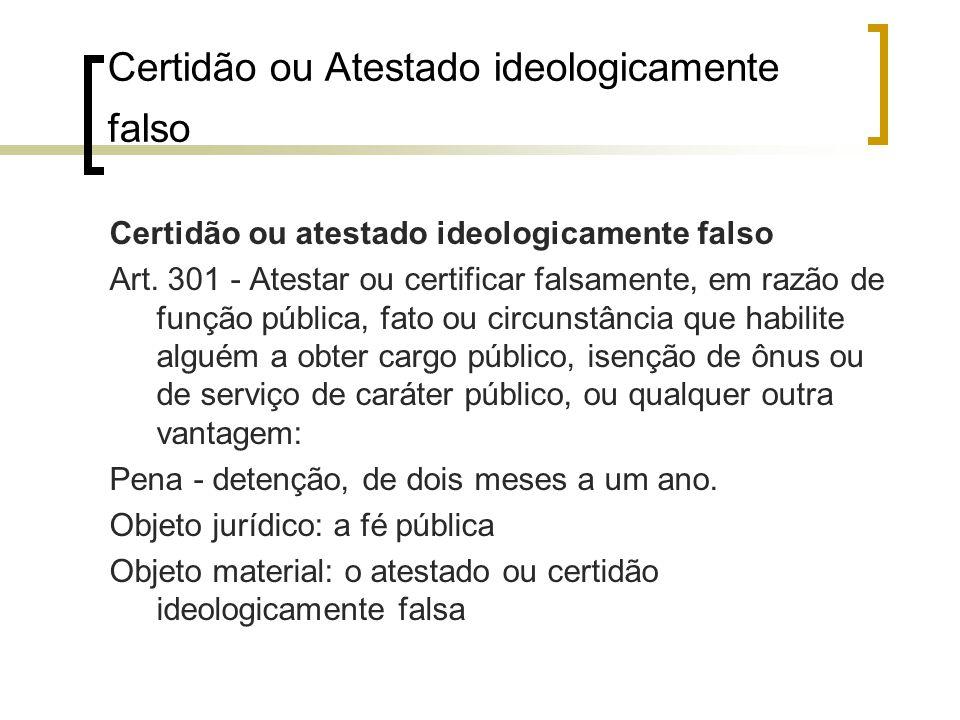 Certidão ou Atestado ideologicamente falso