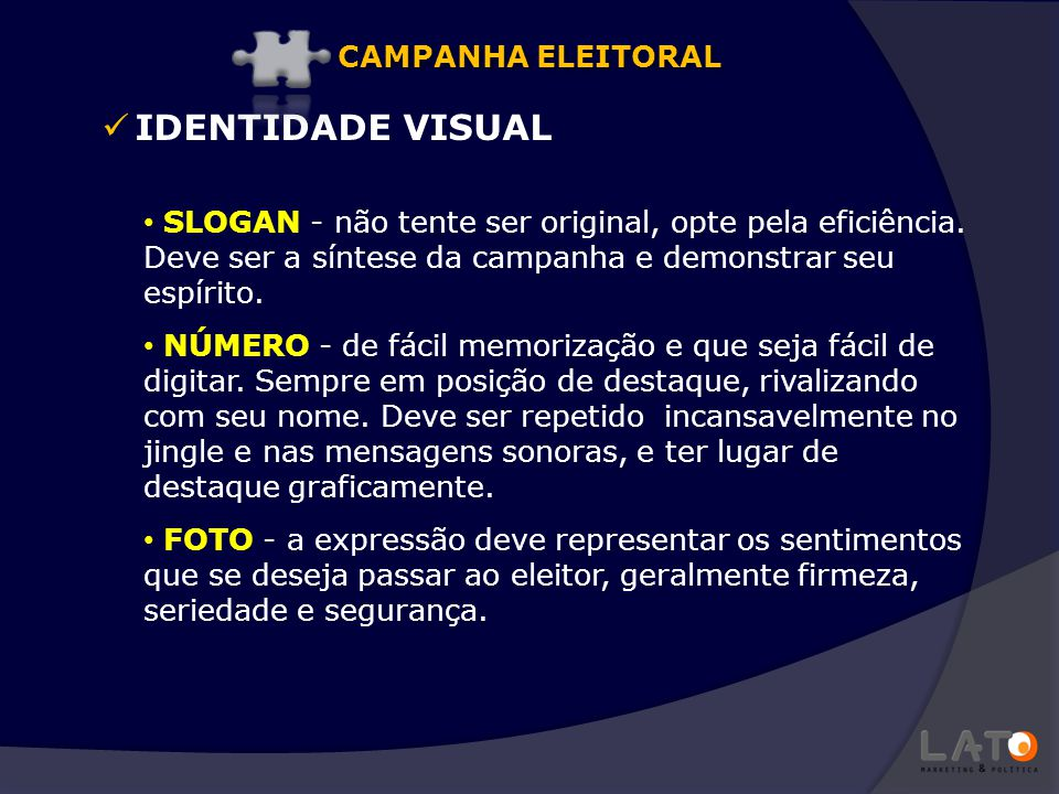IDENTIDADE VISUAL CAMPANHA ELEITORAL