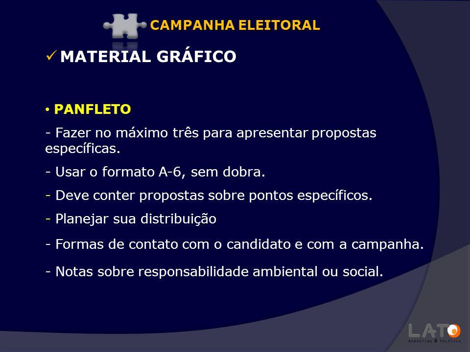 MATERIAL GRÁFICO CAMPANHA ELEITORAL PANFLETO
