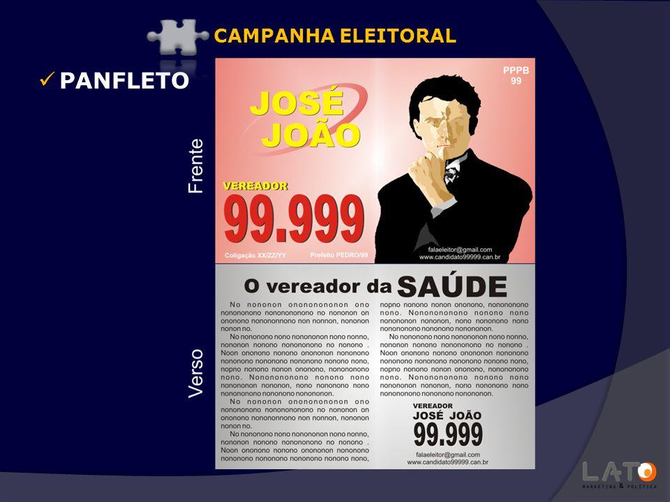 CAMPANHA ELEITORAL PANFLETO