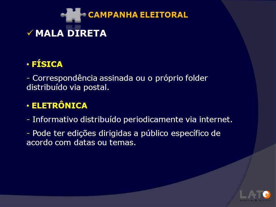 MALA DIRETA CAMPANHA ELEITORAL FÍSICA