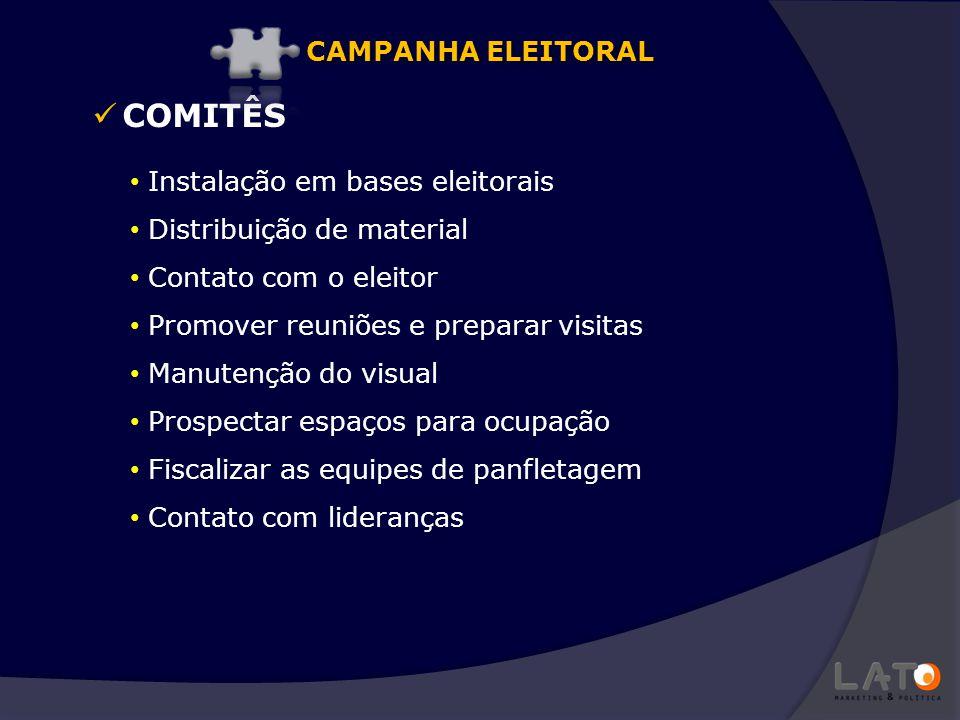COMITÊS CAMPANHA ELEITORAL Instalação em bases eleitorais