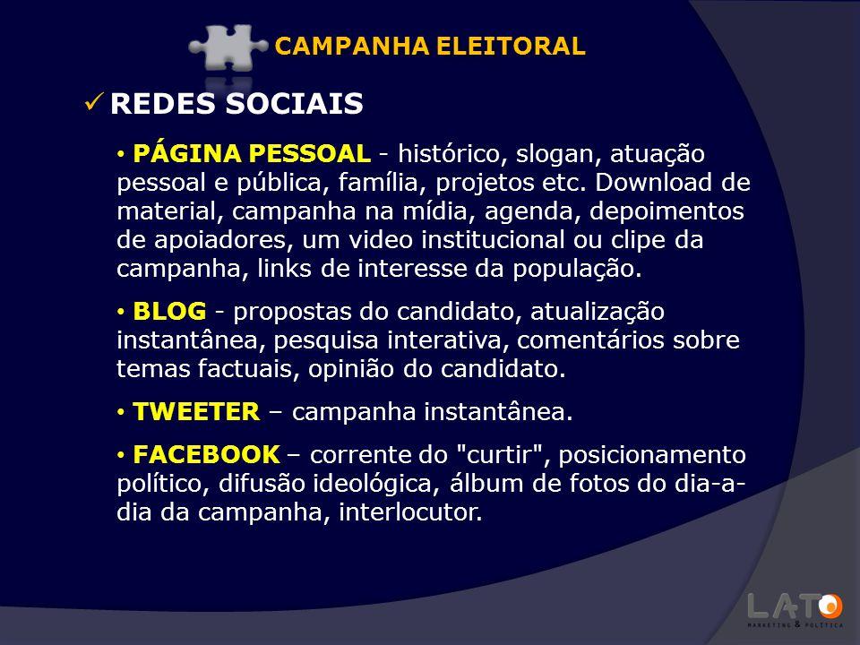 REDES SOCIAIS CAMPANHA ELEITORAL