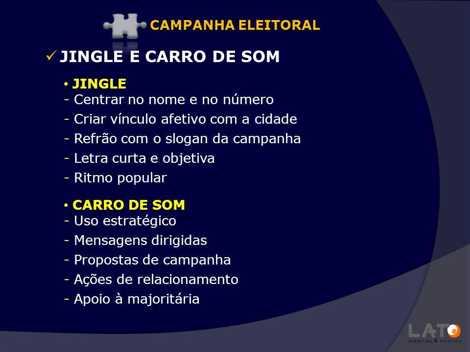 JINGLE E CARRO DE SOM CAMPANHA ELEITORAL JINGLE