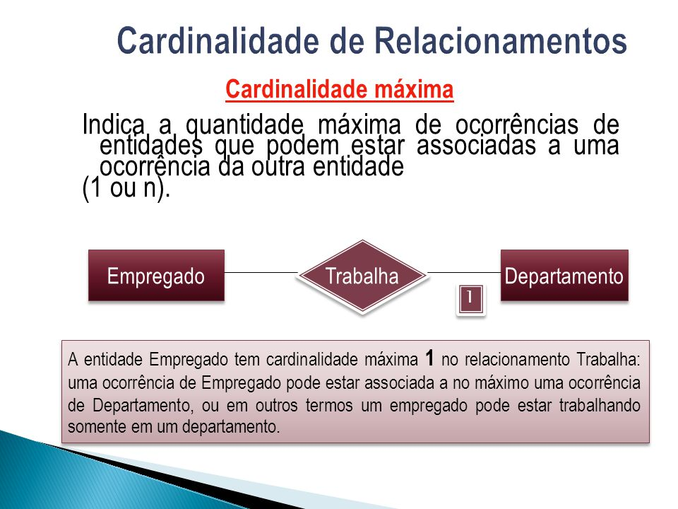 Cardinalidade de Relacionamentos