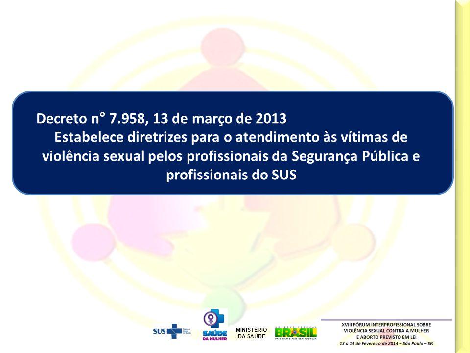 Decreto n° 7.958, 13 de março de 2013