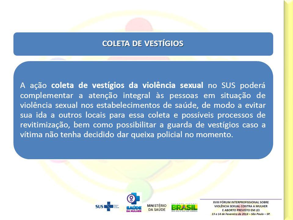 COLETA DE VESTÍGIOS