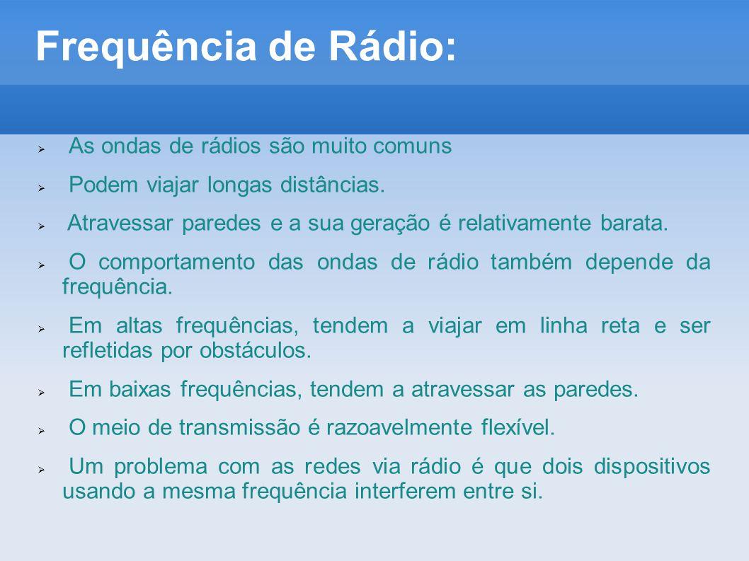 Frequência de Rádio: As ondas de rádios são muito comuns